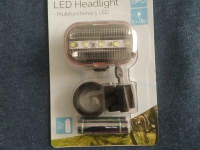 Kit phare éclairage de vélo 5 leds