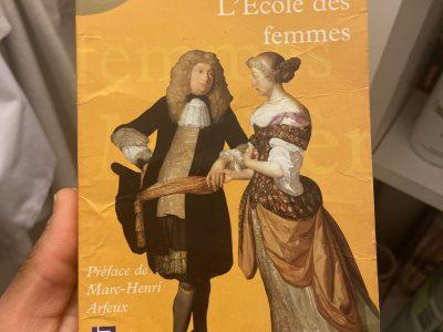 Livre L'école des femmes de Molière