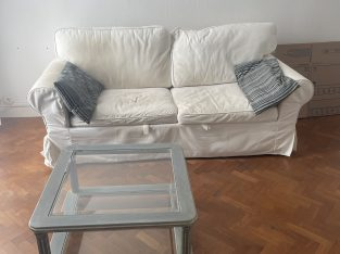 Canapé convertible + table basse